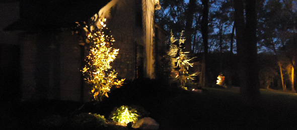Christmas Lights On Stone Wall : Landscape Lighting Tom s Outdoor LivingTom s Outdoor Living