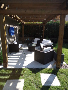 Pergola and Outdoor seating